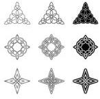 Celtic Triangle And Star Tattoo Designs