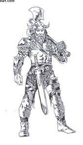 Celtic Viking Warrior Tattoo Design