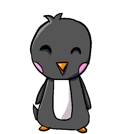 Chibi Penguin Tattoo Design