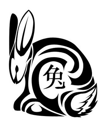 Chinese Tribal Rabbit Tattoo Model