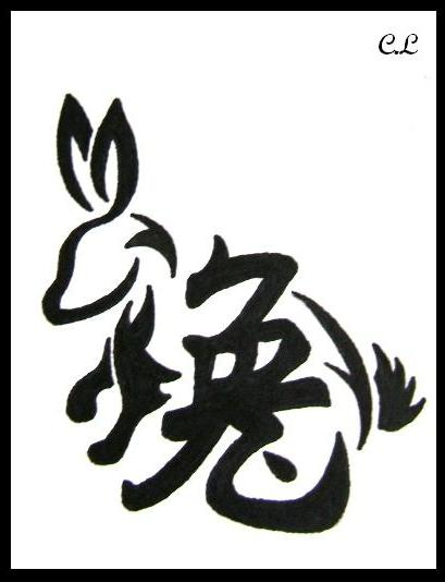 Chinese Zodiac Rabbit Tattoo Photo