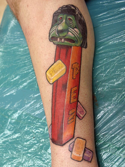Clean Color 3D Pez Tattoos