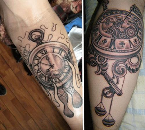 Clock Forearm Tattoos