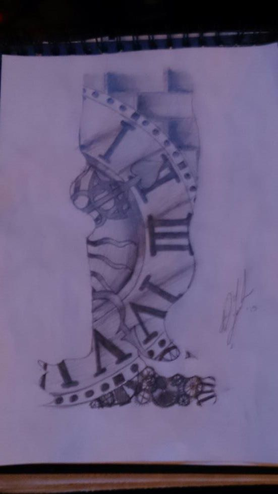 Clock Tower Resident Evil 3 Tattoo Sketch