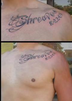 Collarbone Lettering Tattoos Images