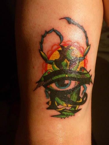 Color 3D Tattoos On Arm