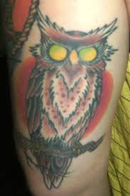 Color Eyed Owl Tattoo