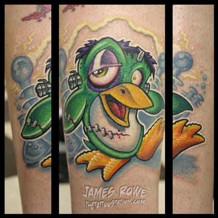 Color Franken Penguin Tattoos