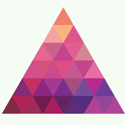 Colorful Triangle Tattoo Design