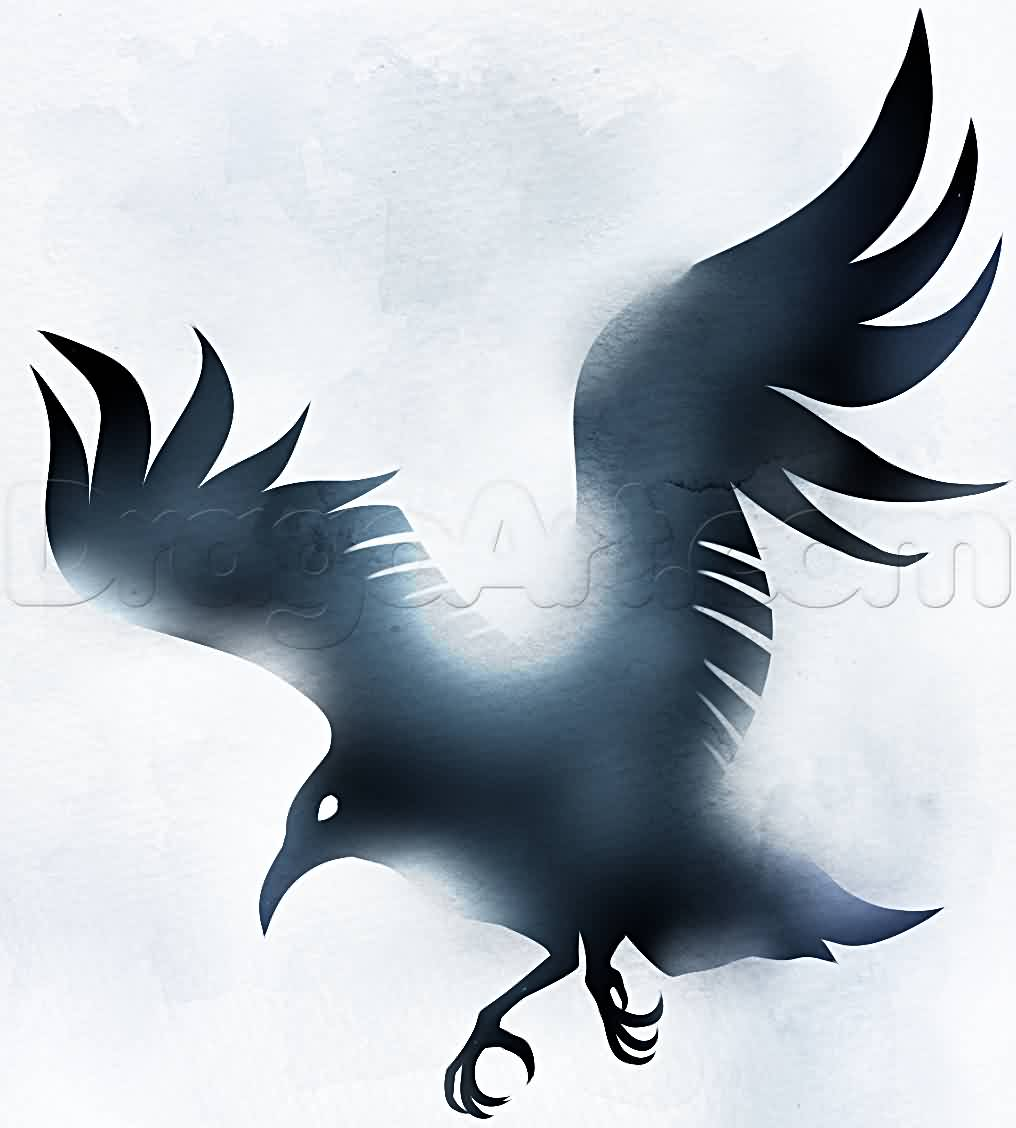 Cool Crow Tattoo Design