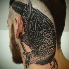 Cool Crow Tattoo Style For Guys
