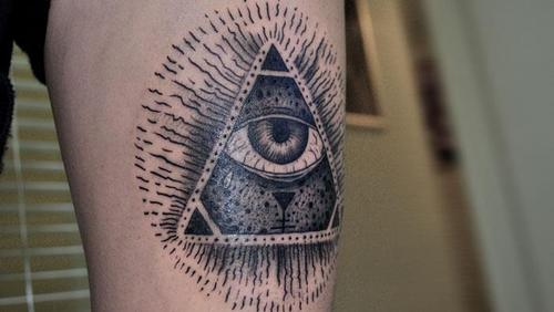 Cool Triangle Eye Tattoo
