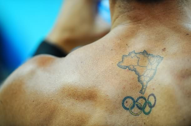 Country Map And Olympic Ring Tattoos