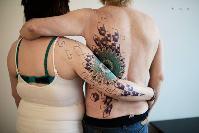 Couple With 3D Matching Tattoos