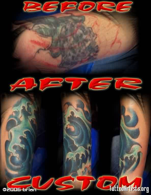 Coverup Waves Tattoos