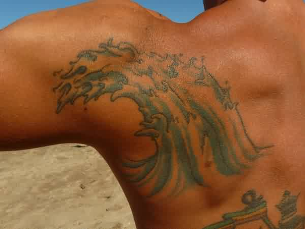 Crashing Wave Tattoo For Men