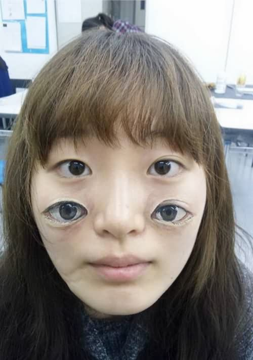 Crazy 3D Eyes Tattoo