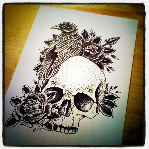 Crow Black Roses And Skull Tattoos Page