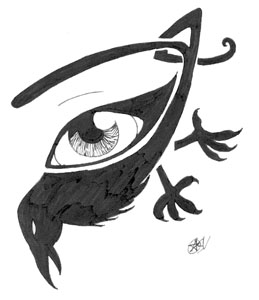 Crow Eye Tattoo Sketch