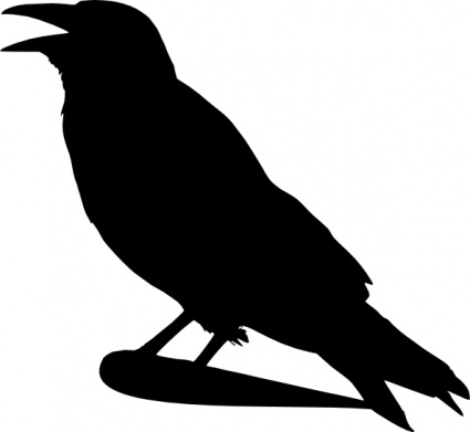 Crow Silhouette Tattoo Design