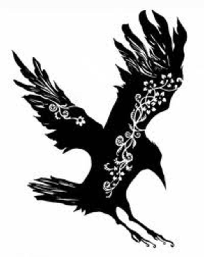 Crow Tattoo Design For Female