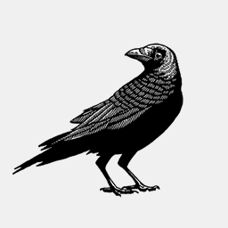 Crow Tattoo Icon