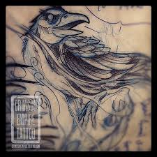 Crow Tattoo Sketch