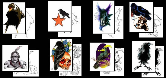 Crow Tattoos Thumbnails