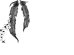 Crows From Feather Tattoo Sample