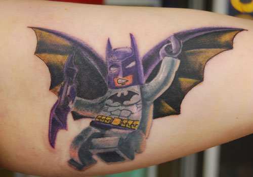 Cute 3D Batman Tattoo
