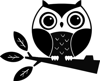 Cute Baby Owl On Branch Tattoo Design