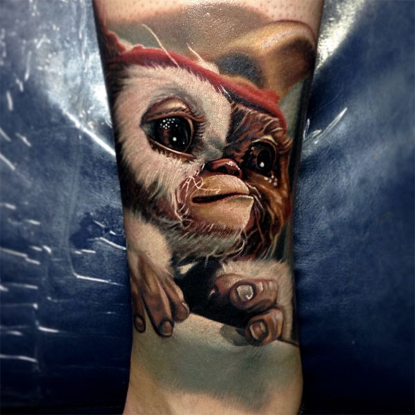 Cute Monkey 3D Tattoo