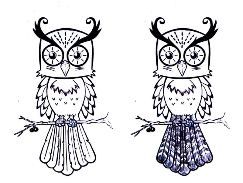 Cute Owl Tattoo Designs