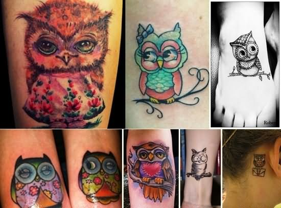 Cute Owl Tattoo Images