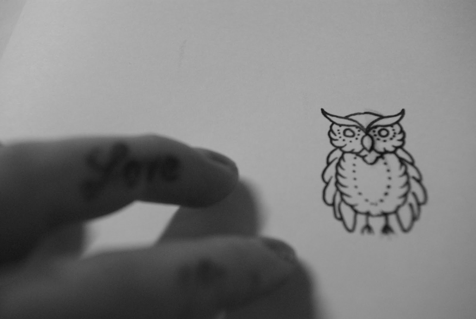 Cute Owl Tattoo Page