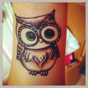 Cute Owl Tattoo Photo
