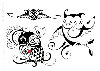 Cute Owls Tattoo Designs
