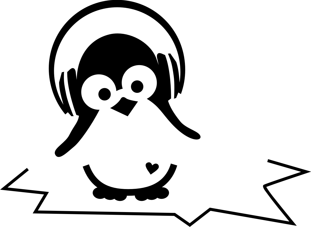 Cute Penguin Music Tattoo Design