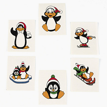 Cute Penguin Tattoos Stickers