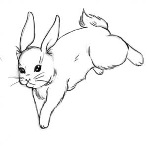 Cute Rabbit Tattoo Design