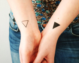Cute Triangle Tattoos On Wrist