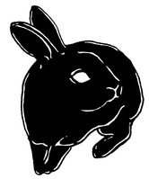 Dark Black Rabbit Tattoo Idea