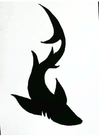 Dark Black Shark Tattoo Design