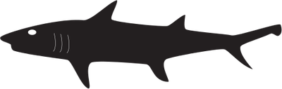 Dark Black Swimming Shark Tattoo Design