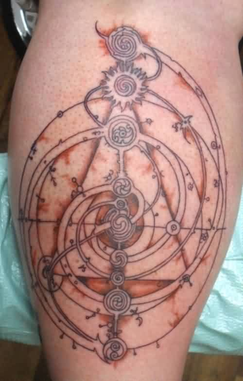 Dark Crystal Maps Tattoo