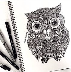 Designer Owl Tattoo