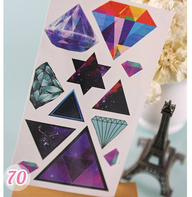 Diamond Triangle Tattoos Sheet