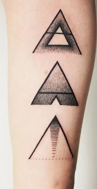 Dotwork Triangle Tattoos