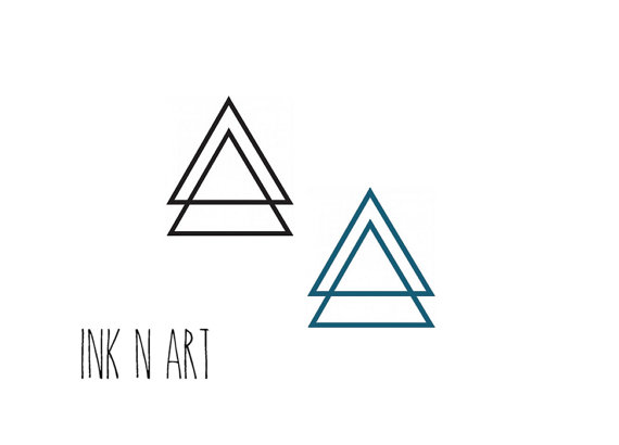 Double Triangle Tattoo Designs