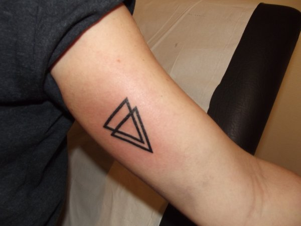 Double Triangle Tattoos For Girls